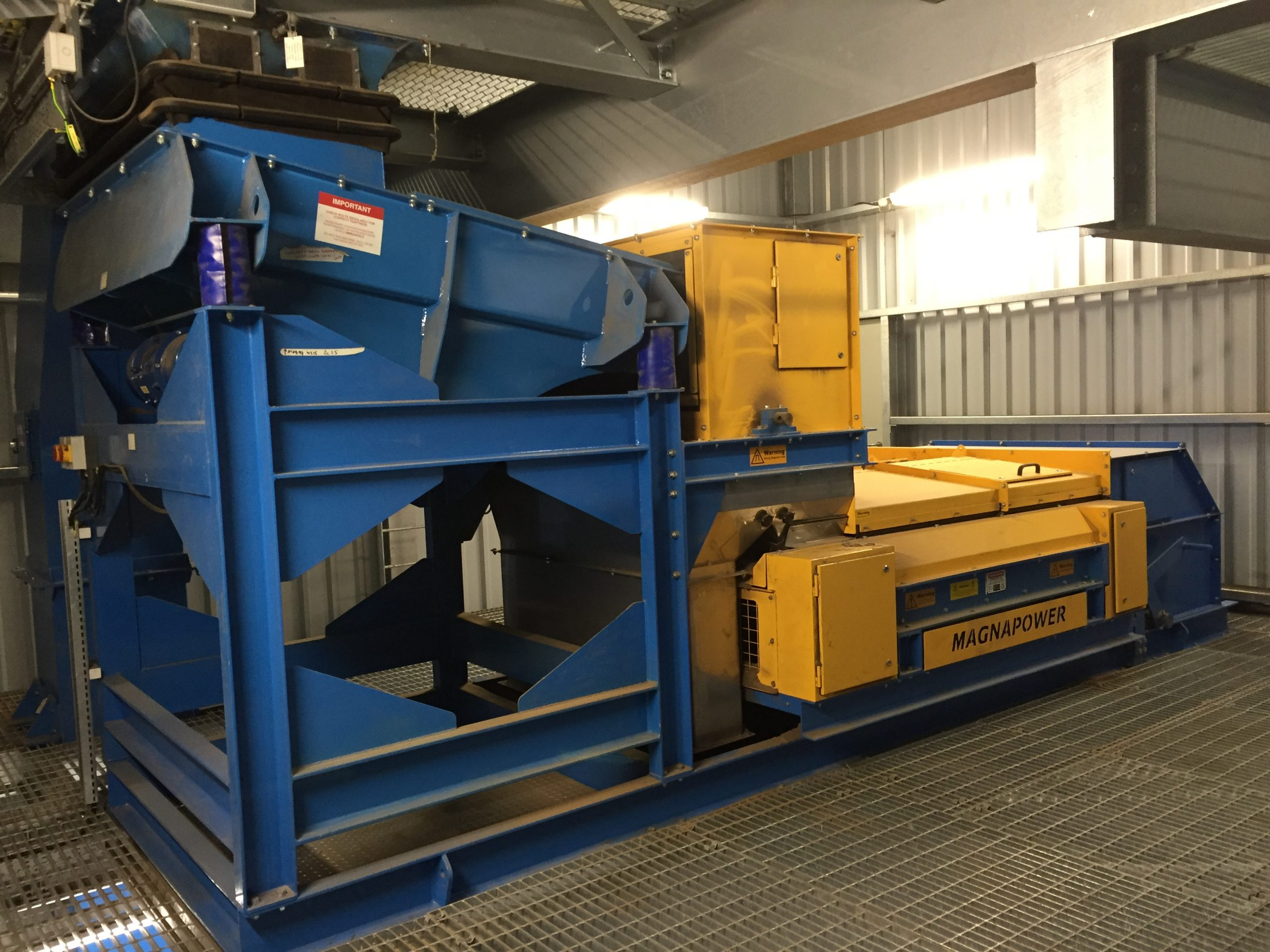 Eddy Current Separator with dust covers - Magnapower