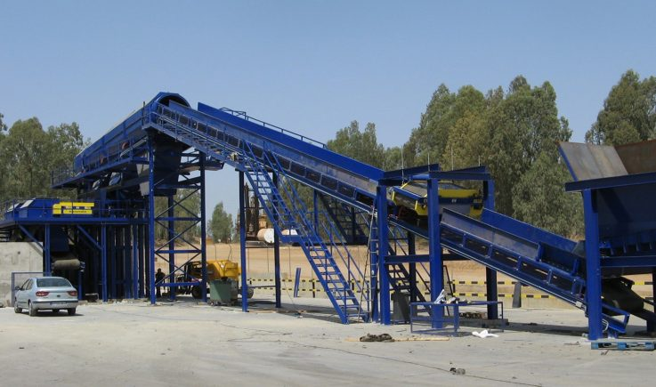 Electro overband for ASR ferrous recovery prior to non-ferrous separation