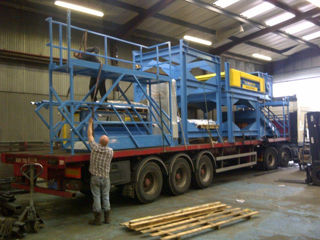 Loading of biomass metal separation plant