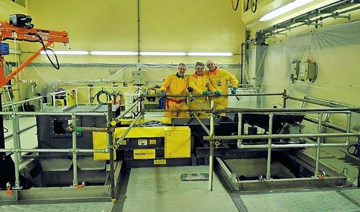 Magnapower ECS in nuclear waste decommissioning plant