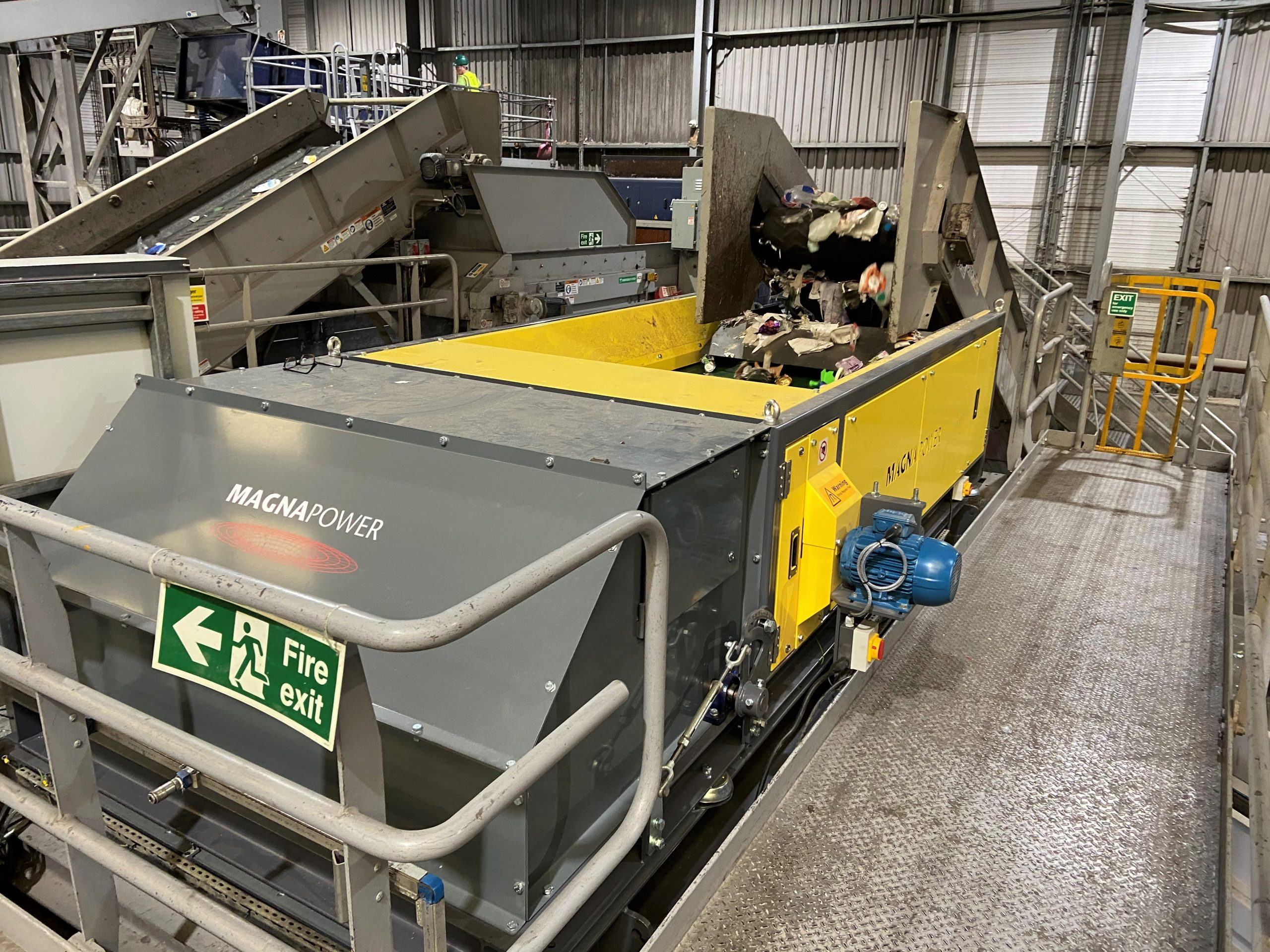Magnapower ECS which replaced competitors ECS in dry recyclable processing plant