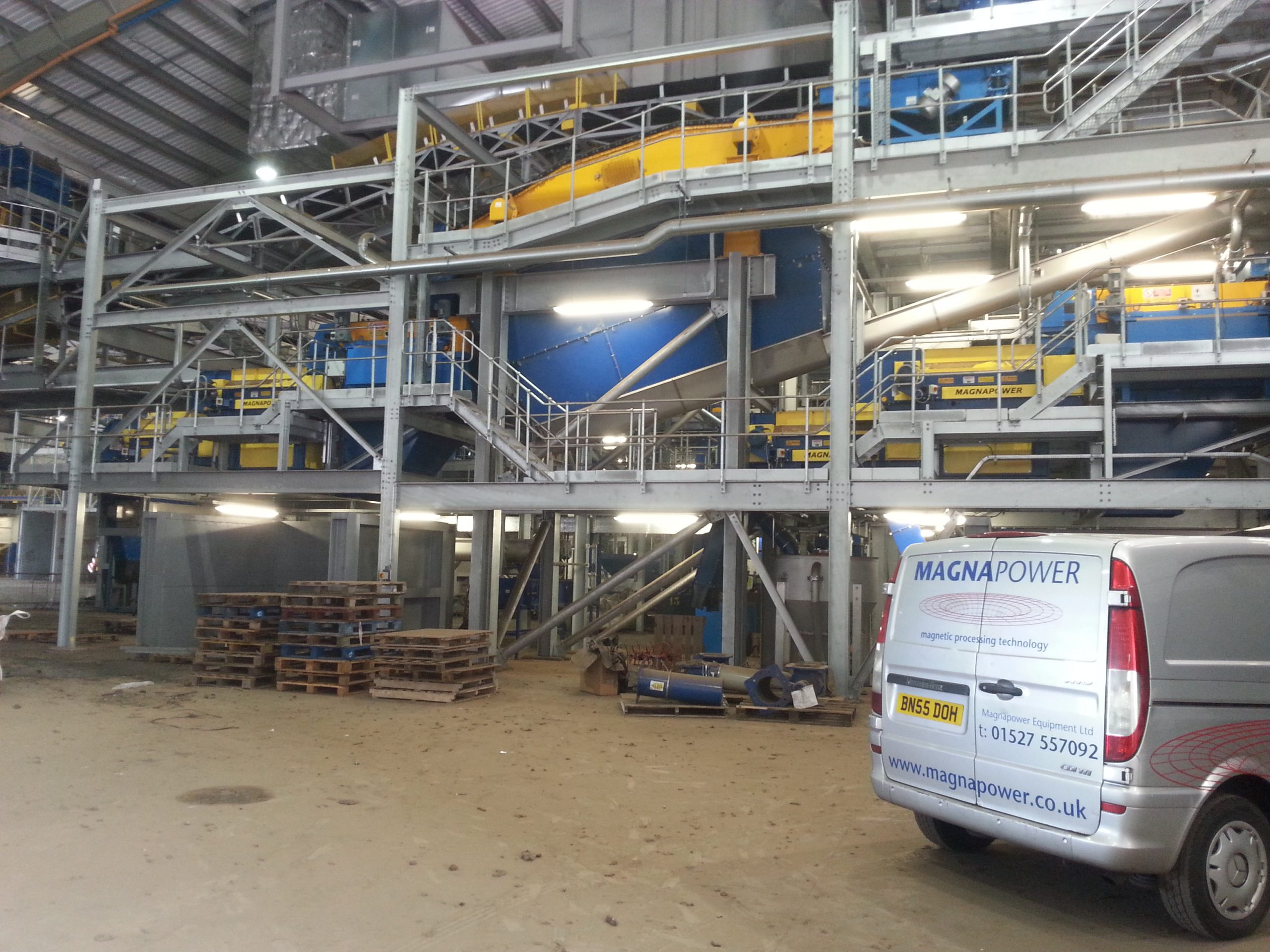 Magnapower Superfines ECS recovering non-ferrous metals after incineration and sizing