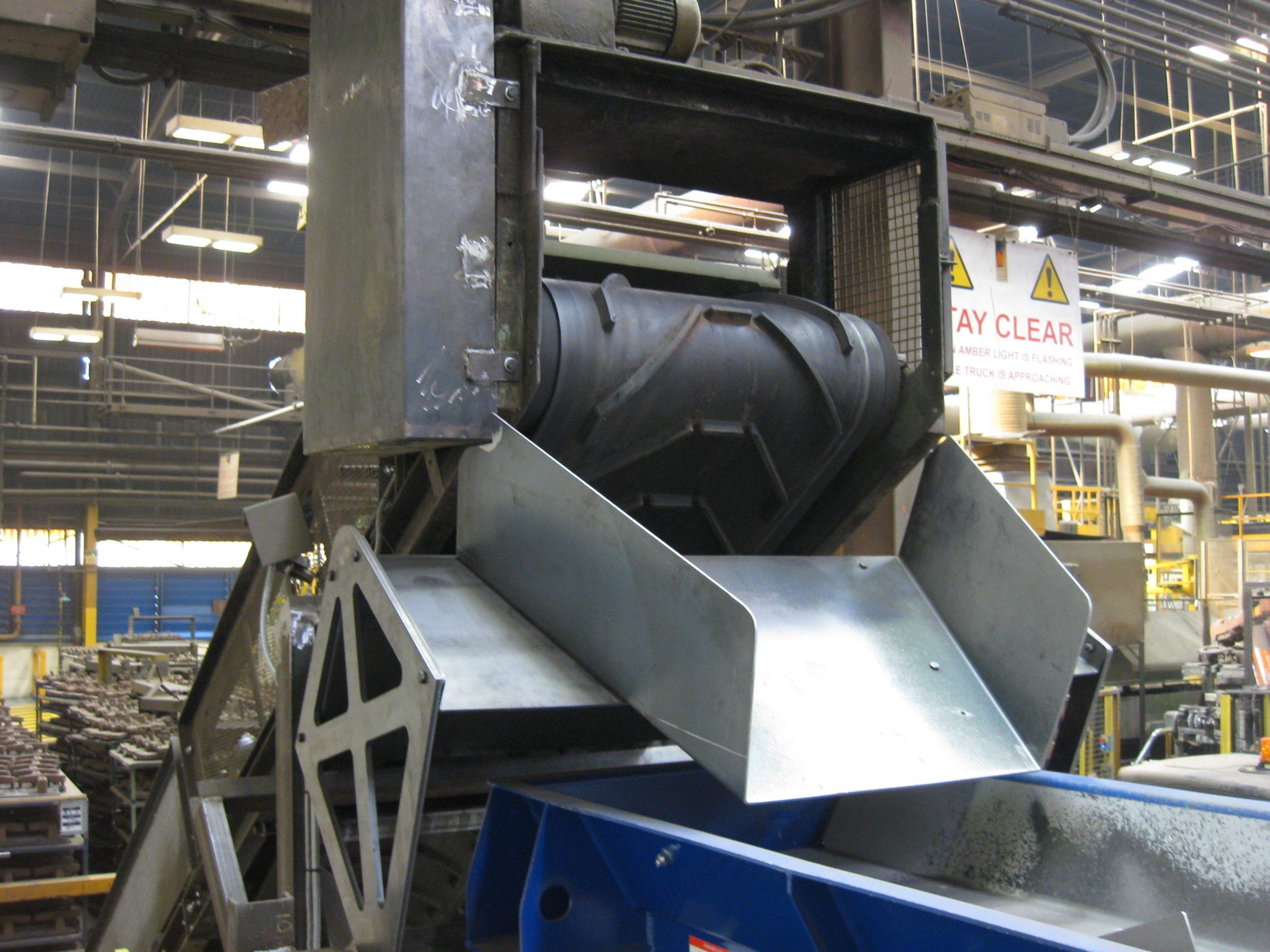 Magnet head pulley in aluminium foundry