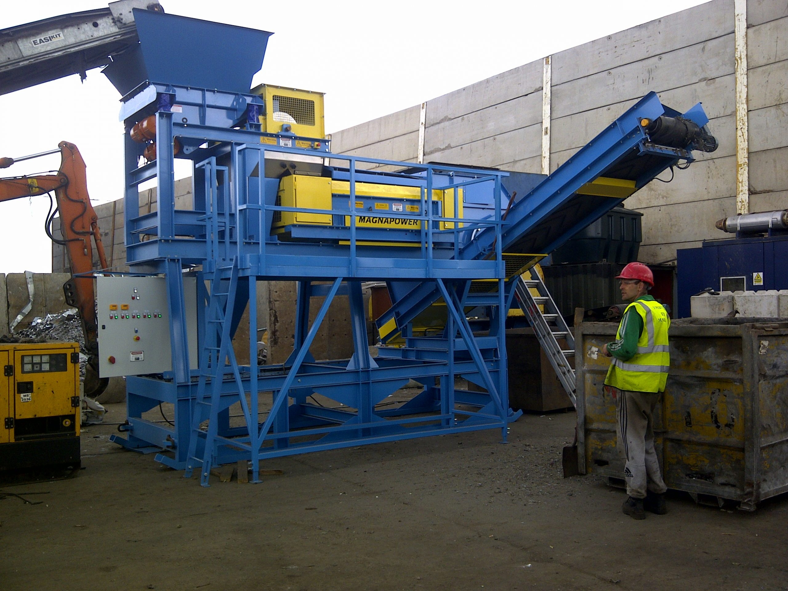 Metal Recycling plant recovery of 25mm non ferrous metals