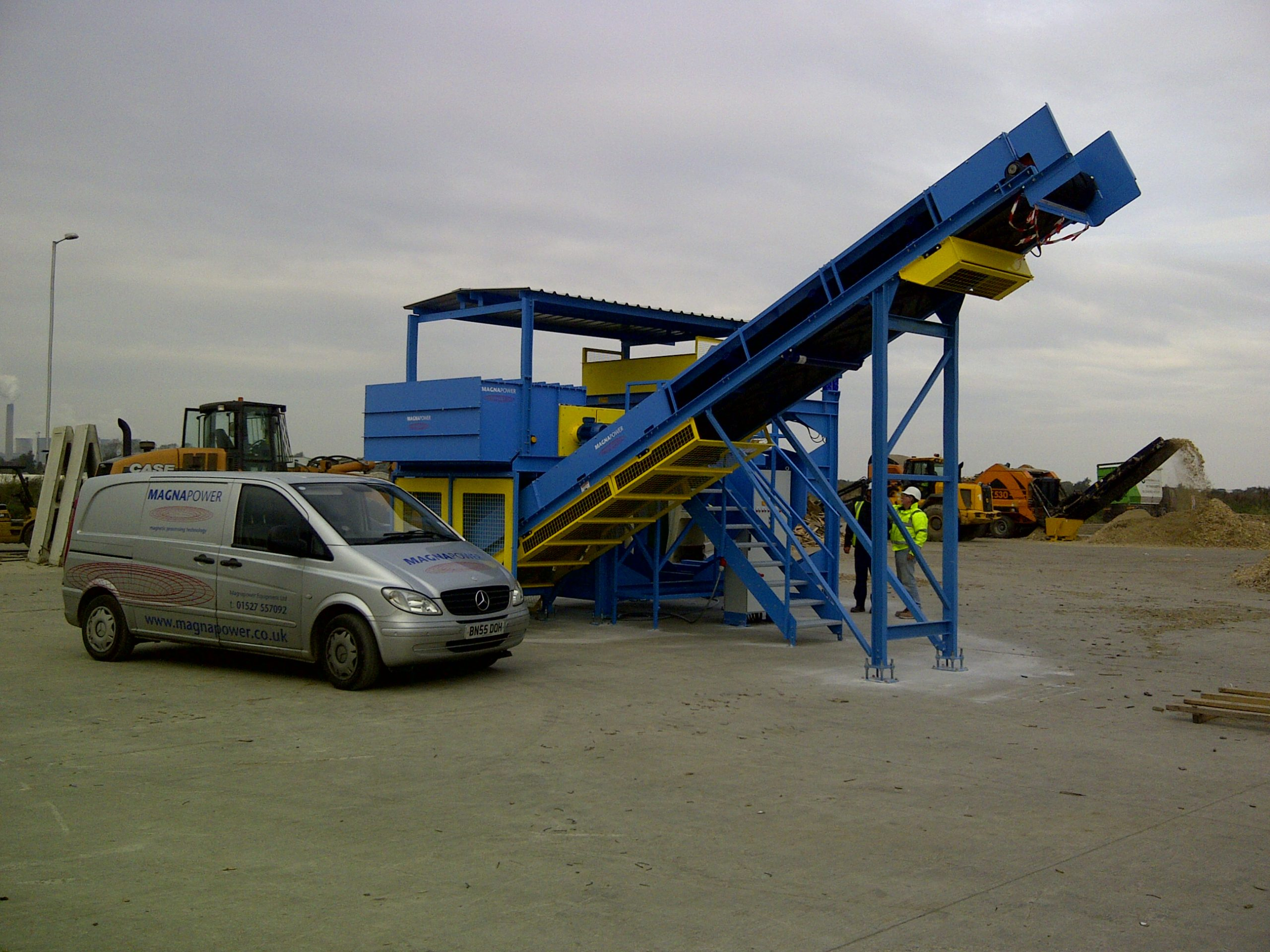 Metal separation plant after installation by Magnapower