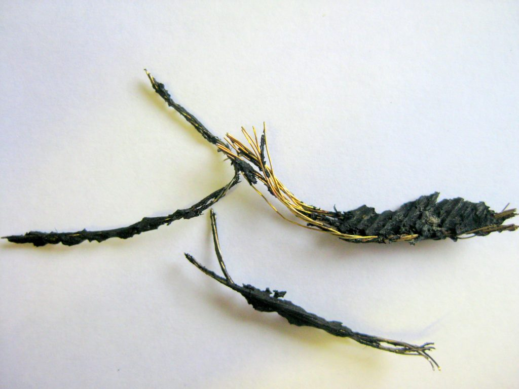Wire with rubber