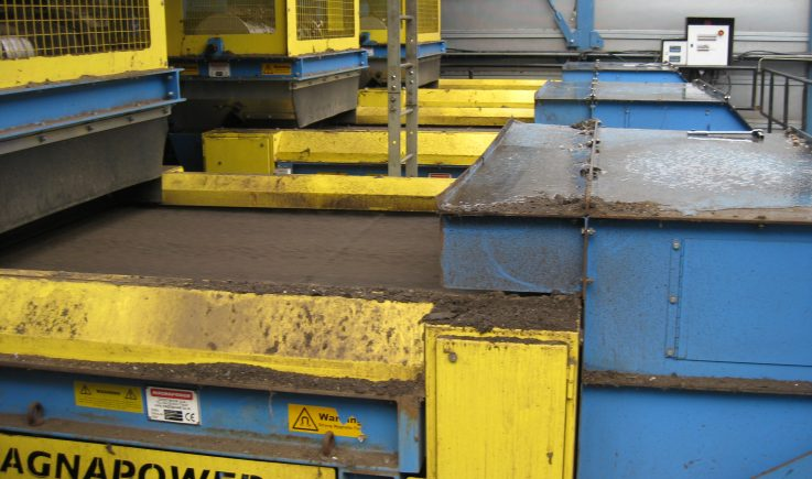 3 x ECS 1500 units sorting sized non-ferrous from ASR after trommel