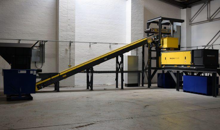 ASR metals recycling pilot plant