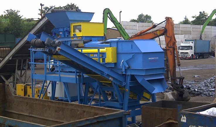Batch processing to recover non-ferrous metal in scrap plant