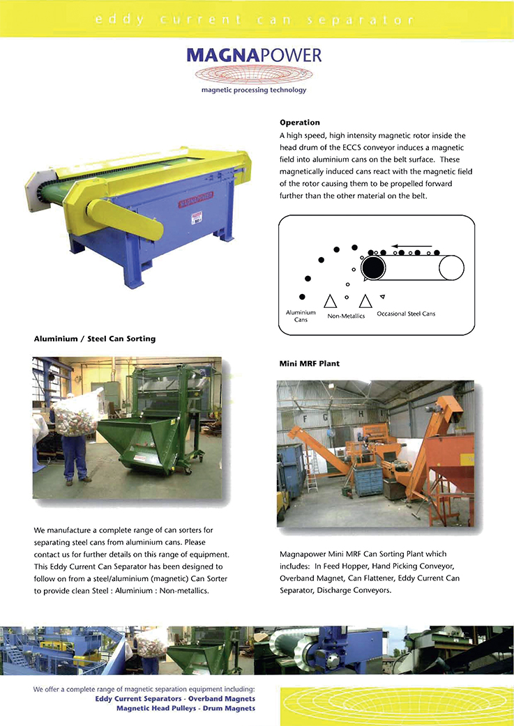 Eddy Current Can Separator 2009 Preview