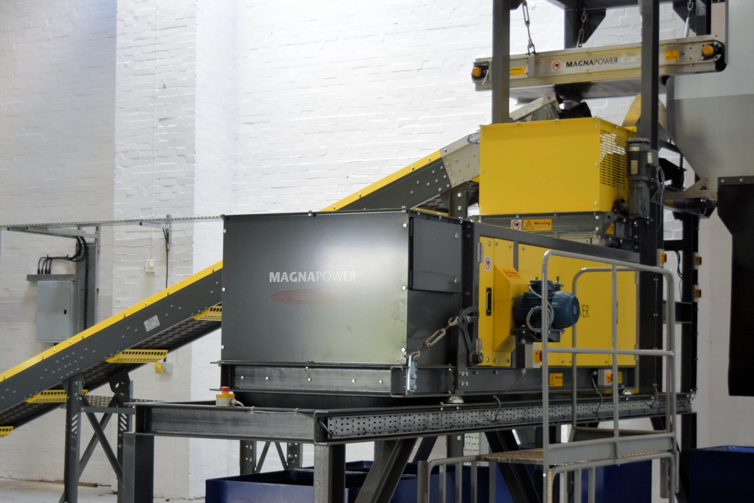 Eddy Current Separator - Superfines pilot plant