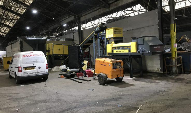 Fines processing plant installation