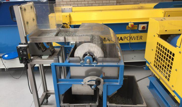 Magnetic separation test on drum magnet