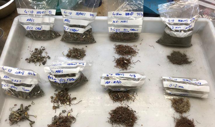 Metals analysis after testing