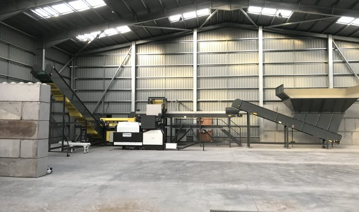 Plastics and cans sorting plant